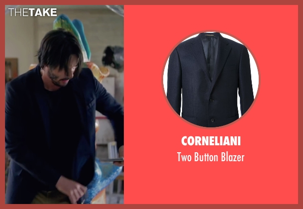 Corneliani blue blazer from Knock Knock seen with Keanu Reeves (Evan Webber)