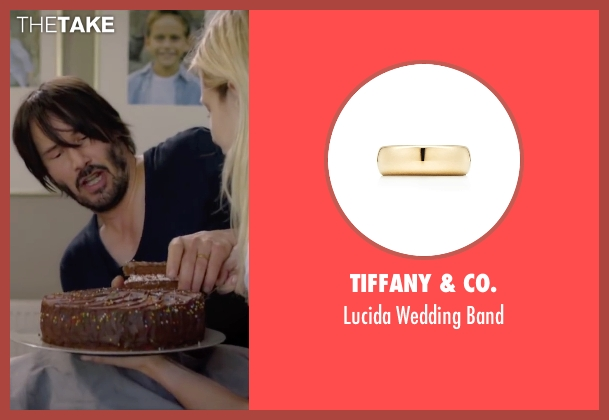 Tiffany & Co. gold band from Knock Knock seen with Keanu Reeves (Evan Webber)