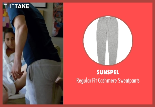 Sunspel gray sweatpants from Knock Knock seen with Keanu Reeves (Evan Webber)