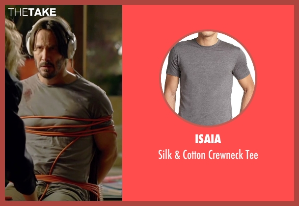 Isaia gray tee from Knock Knock seen with Keanu Reeves (Evan Webber)