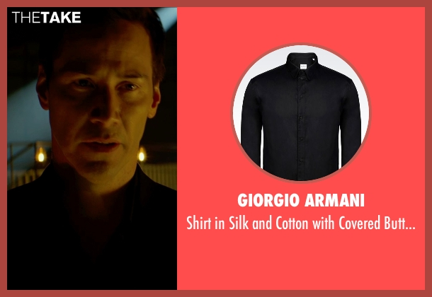 Giorgio Armani black buttons from Man of Tai Chi seen with Keanu Reeves (Donaka Mark)