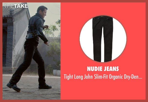 Nudie Jeans black jeans from Man of Tai Chi seen with Keanu Reeves (Donaka Mark)