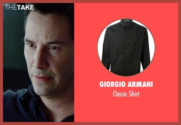 Giorgio Armani black shirt from Man of Tai Chi seen with Keanu Reeves (Donaka Mark)