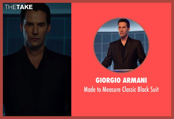 Giorgio Armani black suit from Man of Tai Chi seen with Keanu Reeves (Donaka Mark)