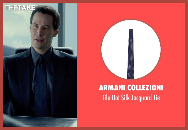 Armani Collezioni blue tie from Man of Tai Chi seen with Keanu Reeves (Donaka Mark)