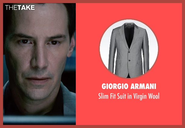 Giorgio Armani gray wool from Man of Tai Chi seen with Keanu Reeves (Donaka Mark)