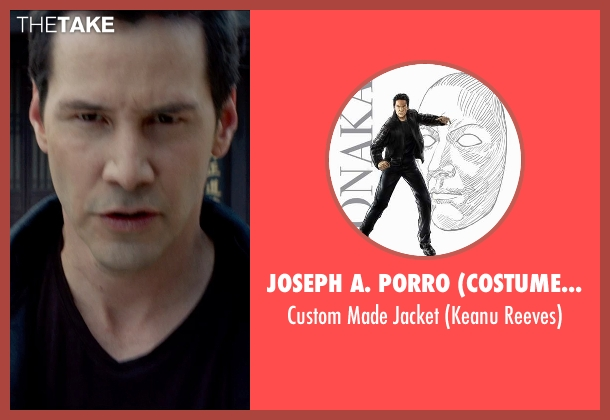 Joseph A. Porro (Costume Designer) jacket from Man of Tai Chi seen with Keanu Reeves (Donaka Mark)
