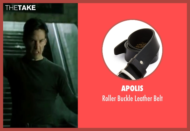 Apolis black belt from The Matrix seen with Keanu Reeves (Neo)