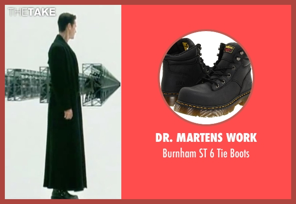 Dr. Martens Work black boots from The Matrix seen with Keanu Reeves (Neo)
