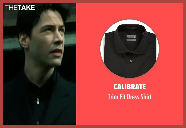 Calibrate black shirt from The Matrix seen with Keanu Reeves (Neo)