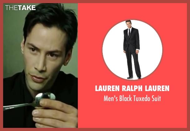 Lauren Ralph Lauren black suit from The Matrix seen with Keanu Reeves (Neo)
