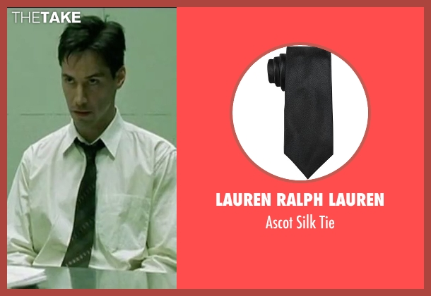 Lauren Ralph Lauren black tie from The Matrix seen with Keanu Reeves (Neo)