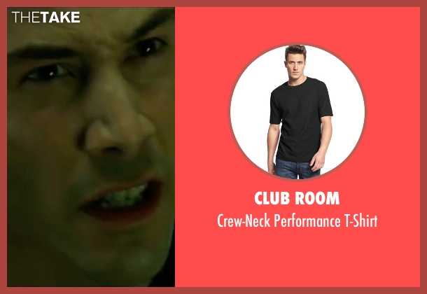 Club Room black t-shirt from The Matrix seen with Keanu Reeves (Neo)