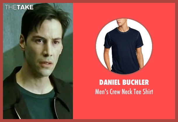 Daniel Buchler blue shirt from The Matrix seen with Keanu Reeves (Neo)