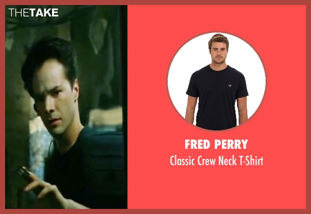 Fred Perry blue t-shirt from The Matrix seen with Keanu Reeves (Neo)