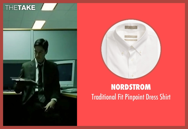 Nordstrom white shirt from The Matrix seen with Keanu Reeves (Neo)