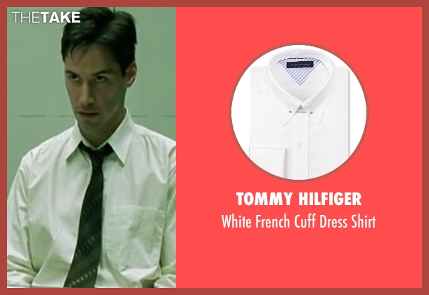 Tommy Hilfiger white shirt from The Matrix seen with Keanu Reeves (Neo)