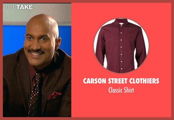 Carson Street Clothiers red shirt from Horrible Bosses 2 seen with Keegan-Michael Key (Mike)