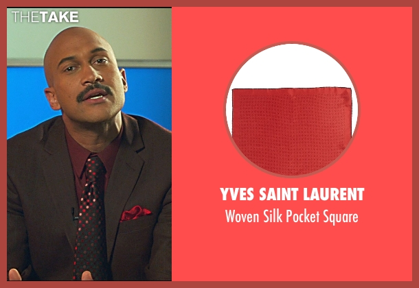 Yves Saint Laurent red square from Horrible Bosses 2 seen with Keegan-Michael Key (Mike)