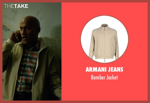 Armani Jeans beige jacket from Keanu seen with Keegan-Michael Key (Clarence Goobril)