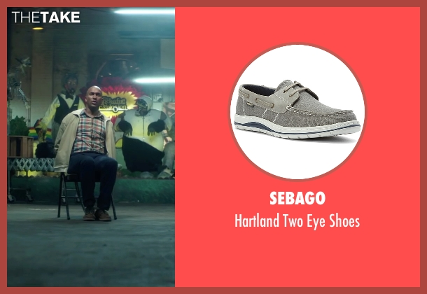 Sebago gray shoes from Keanu seen with Keegan-Michael Key (Clarence Goobril)