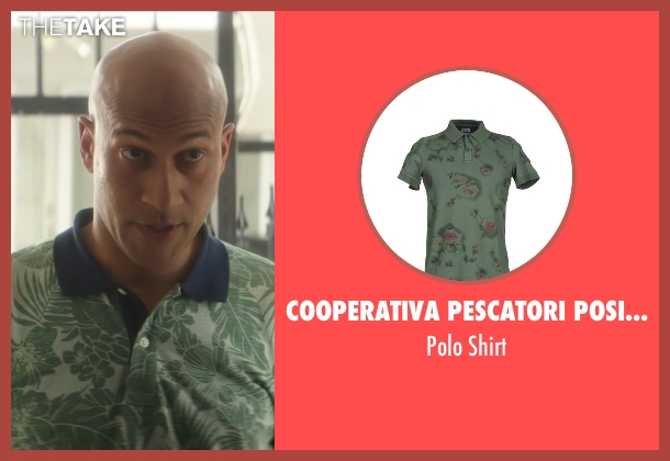 Cooperativa Pescatori Posillipo green shirt from Keanu seen with Keegan-Michael Key (Clarence Goobril)