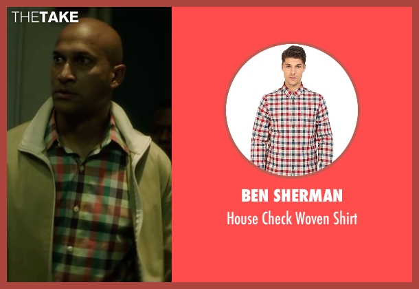 Ben Sherman red shirt from Keanu seen with Keegan-Michael Key (Clarence Goobril)