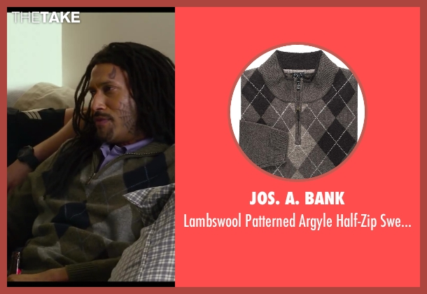 Jos. A. Bank brown sweater from Let's Be Cops seen with Keegan-Michael Key (Unknown Character)