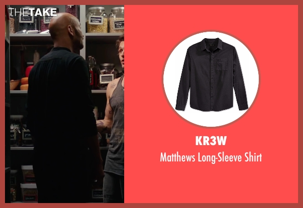 KR3W black shirt from Why Him? seen with Keegan-Michael Key (Gustav)
