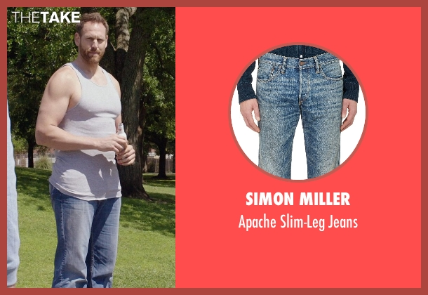 Simon Miller blue jeans from Get Hard seen with Keil Oakley Zepernick (Big Guy)