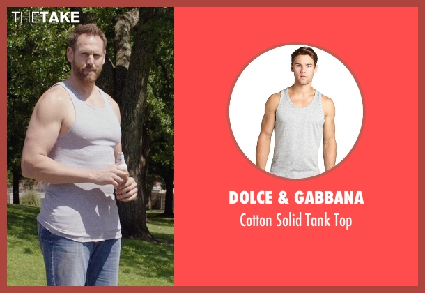 Dolce & Gabbana gray top from Get Hard seen with Keil Oakley Zepernick (Big Guy)