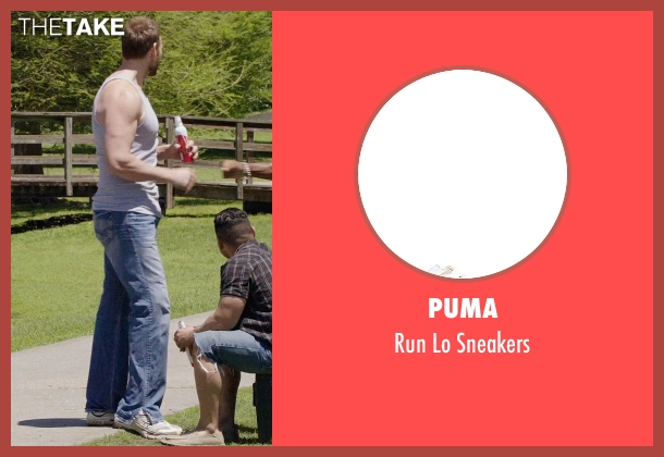 Puma white sneakers from Get Hard seen with Keil Oakley Zepernick (Big Guy)