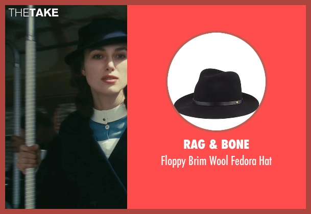 Rag & Bone black hat from Atonement seen with Keira Knightley (Cecilia Tallis)