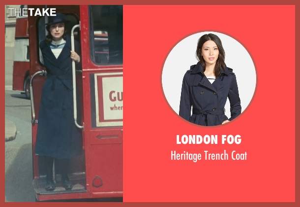 London Fog blue coat from Atonement seen with Keira Knightley (Cecilia Tallis)