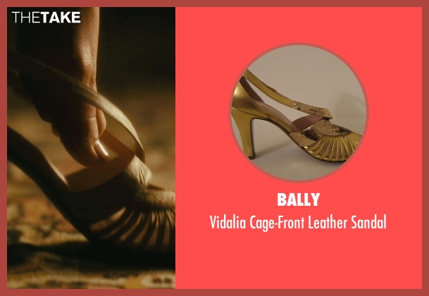 Bally gold sandal from Atonement seen with Keira Knightley (Cecilia Tallis)