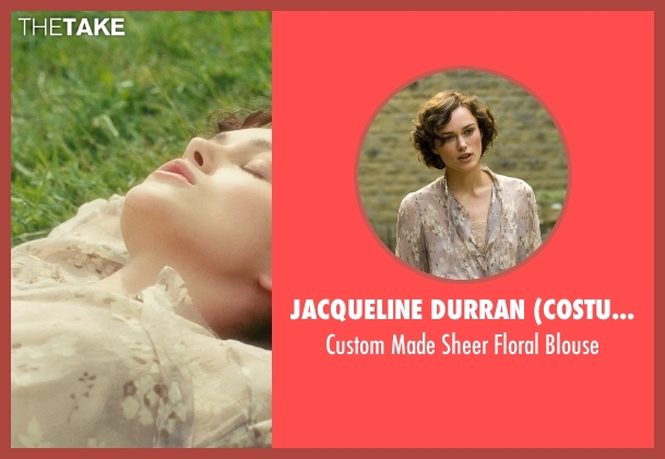 Jacqueline Durran (Costume Designer) gray blouse from Atonement seen with Keira Knightley (Cecilia Tallis)