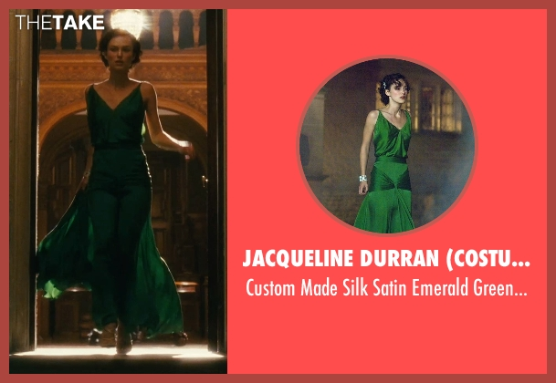 Jacqueline Durran (Costume Designer) green gown from Atonement seen with Keira Knightley (Cecilia Tallis)