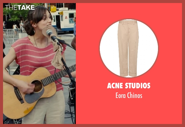Acne Studios beige chinos from Begin Again seen with Keira Knightley (Gretta)