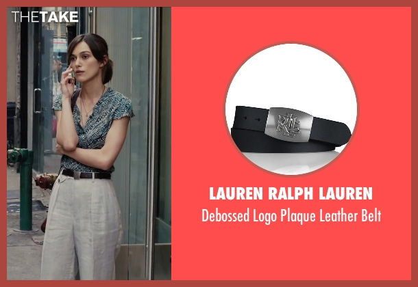 Lauren Ralph Lauren black belt from Begin Again seen with Keira Knightley (Gretta)
