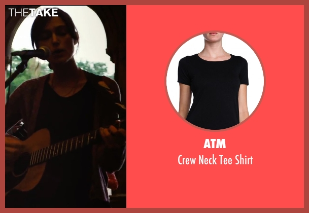 ATM black shirt from Begin Again seen with Keira Knightley (Gretta)