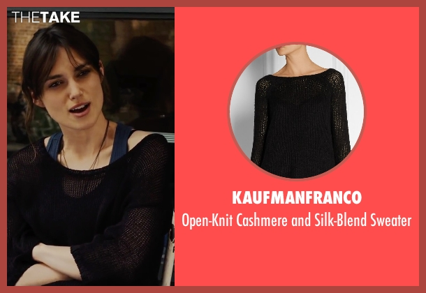Kaufmanfranco black sweater from Begin Again seen with Keira Knightley (Gretta)