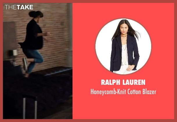 Ralph Lauren blue blazer from Begin Again seen with Keira Knightley (Gretta)