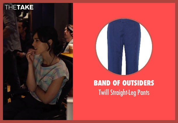 Band of Outsiders blue pants from Begin Again seen with Keira Knightley (Gretta)