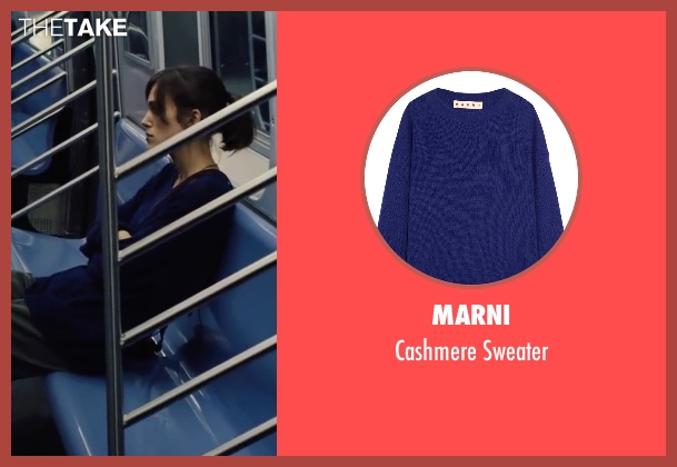 Marni blue sweater from Begin Again seen with Keira Knightley (Gretta)