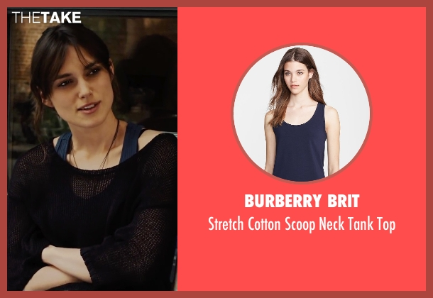 Burberry Brit blue top from Begin Again seen with Keira Knightley (Gretta)