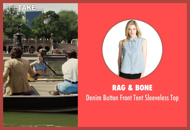 Rag & Bone blue top from Begin Again seen with Keira Knightley (Gretta)