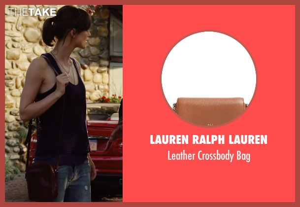 Lauren Ralph Lauren brown bag from Begin Again seen with Keira Knightley (Gretta)