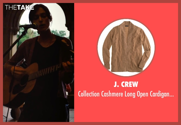 J. Crew brown sweater from Begin Again seen with Keira Knightley (Gretta)