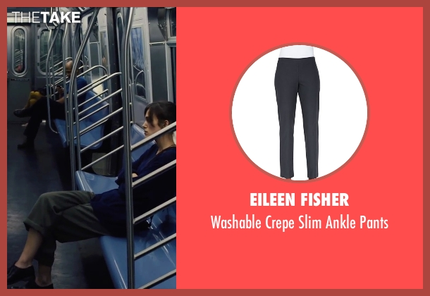 Eileen Fisher gray pants from Begin Again seen with Keira Knightley (Gretta)