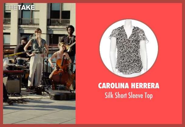 Carolina Herrera gray top from Begin Again seen with Keira Knightley (Gretta)